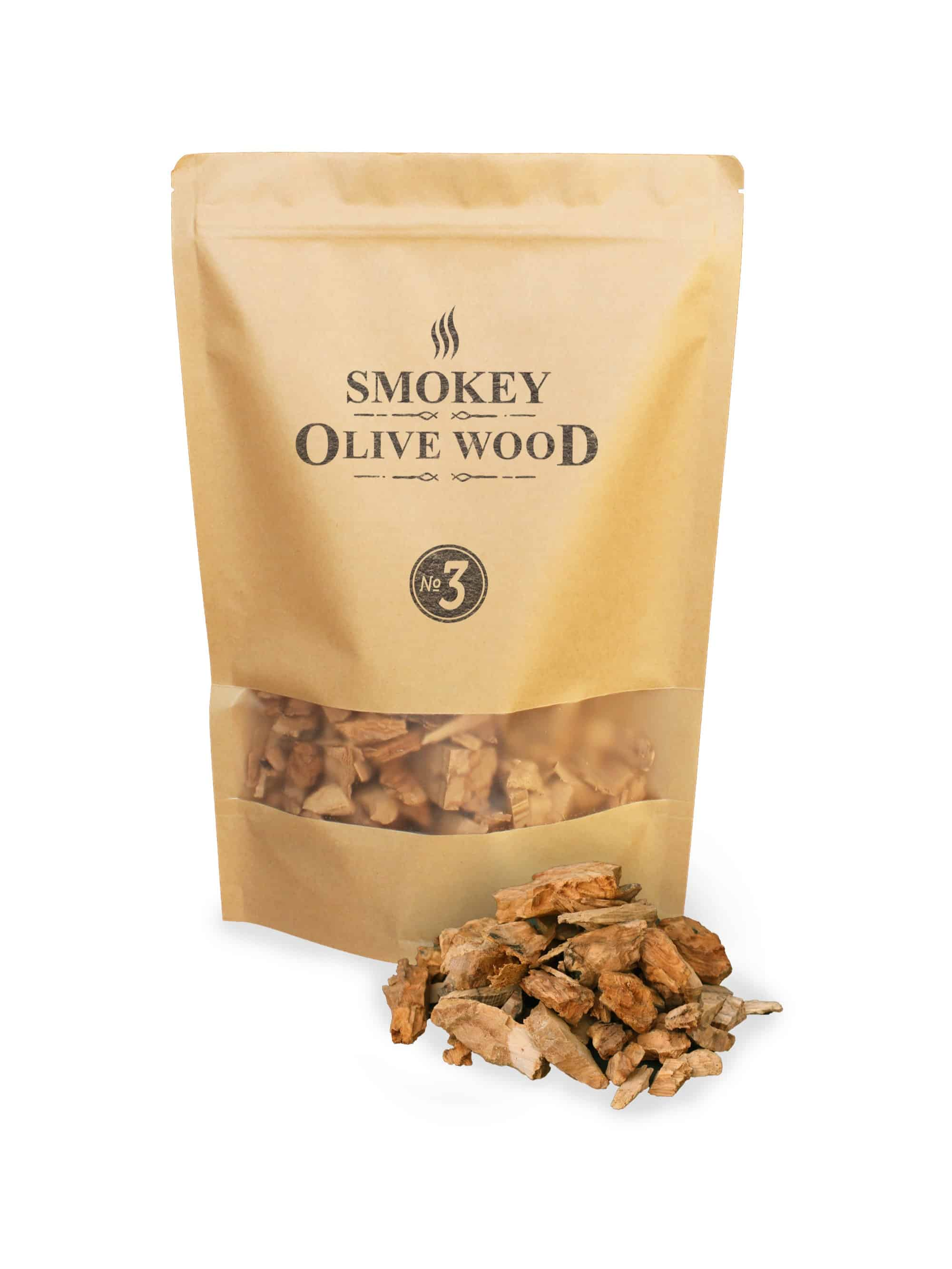 Smokey Olive Wood rookchips Nº3 Smoker BBQ Chips Grill rooken
