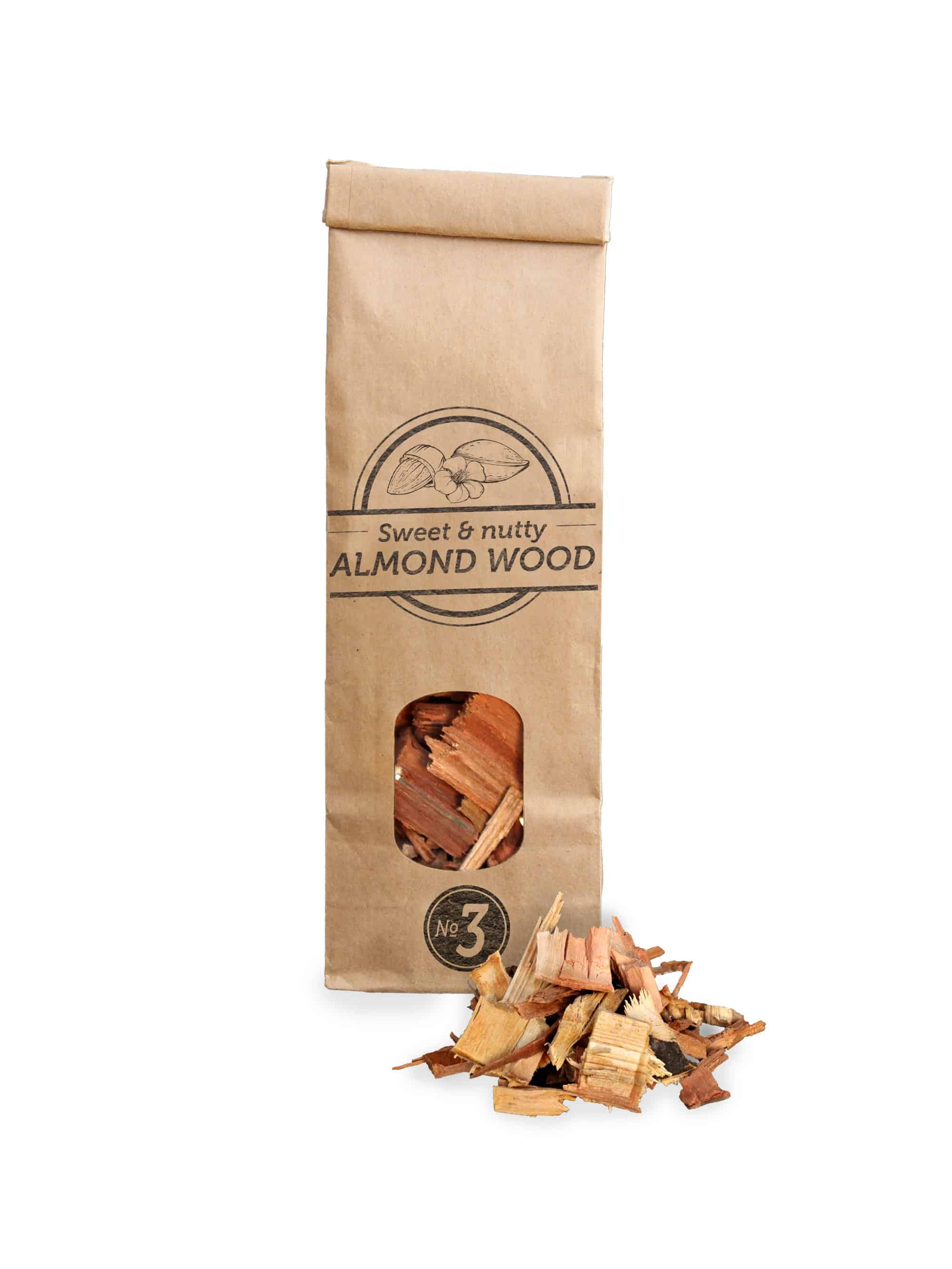 Smokey Olive Wood Almond Wood Chips Nº3 Smoker BBQ Chips Grill