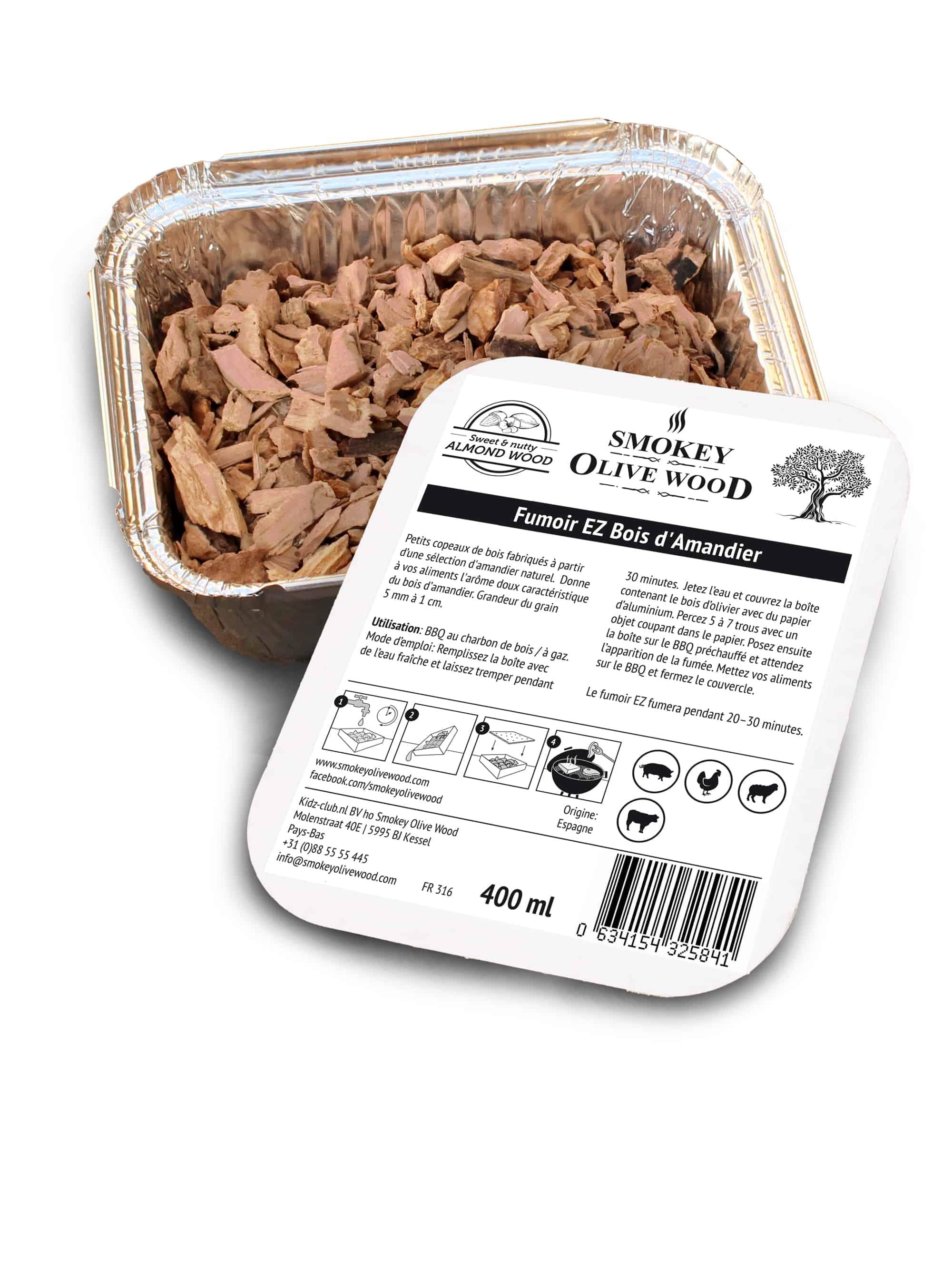 Smokey Olive Wood Sciure amandier Nº1 Smoker BBQ Chips Grill Fumer