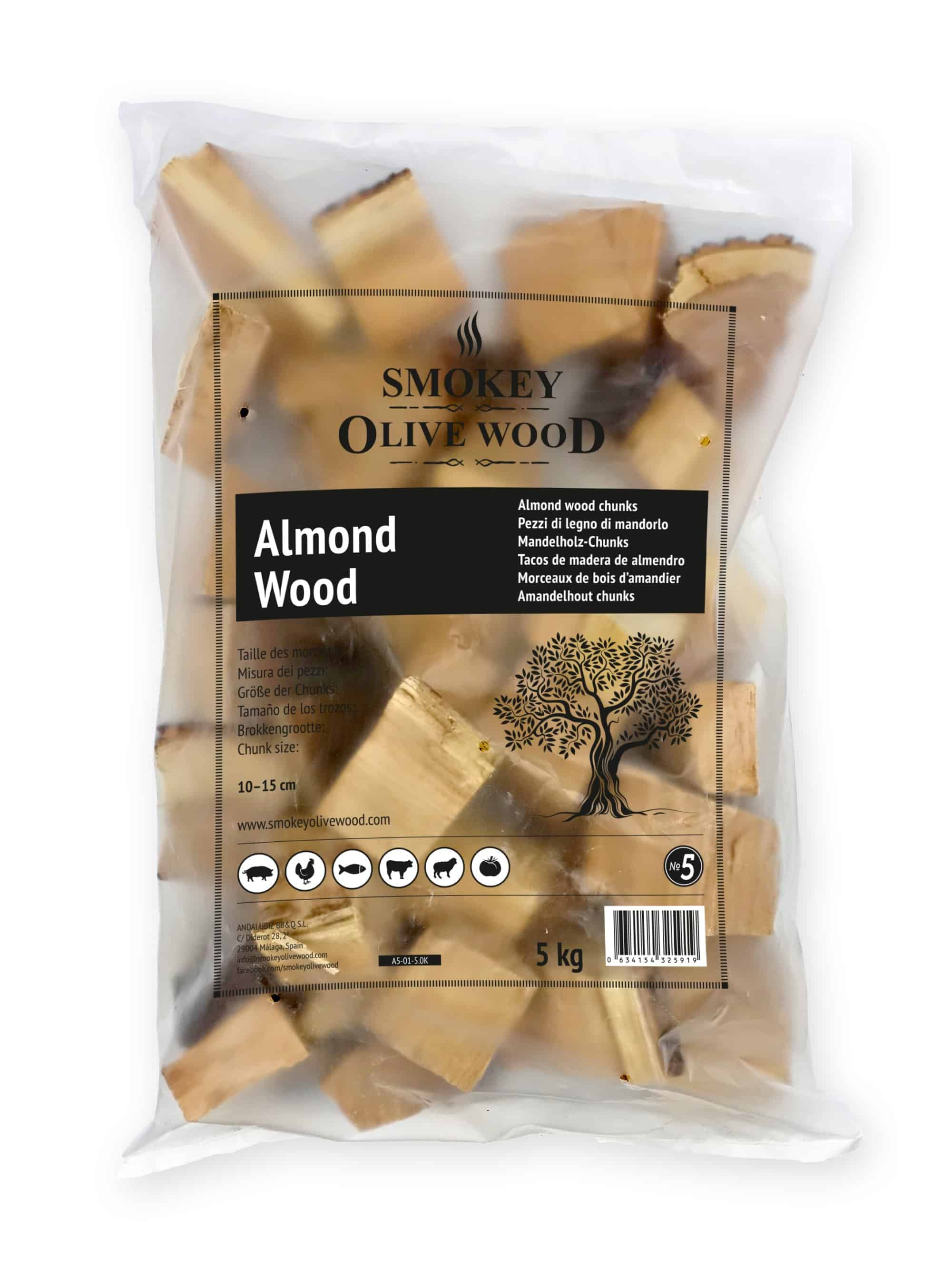 Smokey Olive Wood almond chunks Smoker BBQ Chips Grill